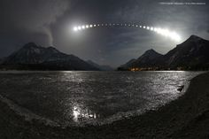 Total Lunar Eclipse over Waterton Lake