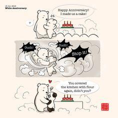White Anniversary | Panda and Polar Bear
