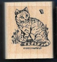 Stampin Up 1995 from Cat and Kitten set (Removed -- box 4)