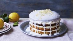 Whole lemon cake with lemon cheesecake icing recipe by Mary Berry