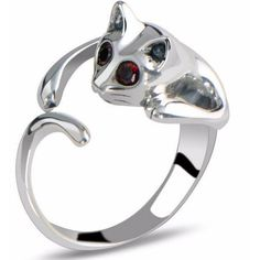 Would you wear this cute cat ring? Tag a friend & let them know you want one!  Check out the other colors we have MEOW=> https://www.justlovecats.com/collections/rings/products/silver-and-rhinestone-cat-ring?utm_source=fbnewsfeed&utm_medium=organic&utm_campaign=kei  Don't furrget to Like & Share! Just Love Cats