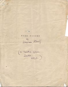 ladylindy:    Virginia Woolf, Time Passes,Cover Page [x]
