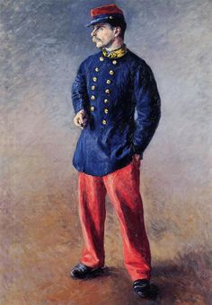 A Soldier, 1881  Gustave Caillebotte