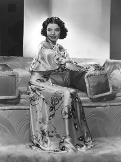 """Frances Langford, radio star, singer, and actress.  Her signature song was """"In the Mood for Love.""""  Photographer C.S. Bull in 1936."""