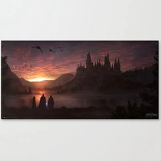 Canvas Print | Hogwarts by Florent Llamas - Small - Society6 | Google Shopping Neville Harry, Every Flavor Beans, What House, Harry Potter Room, Book Wall, Like A Cat, Ravenclaw, Hogwarts, Color Mixing