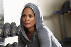 Laila Ali- She's beautiful and she'll knock your head off lol love it #toughgirl #boxing