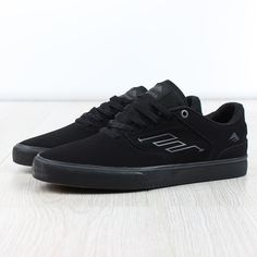 ea09bfd78e8 Emerica The Reynolds Low Vulc Shoes- Triple Black Skateboard Fashion