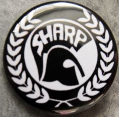 """S.H.A.R.P. pinback button badge 1.25"""" Just $1.50 plus shipping!"""