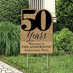 We Still Do – Wedding Anniversary – Party Decorations – Anniversary Party Personalized Welcome Yard Sign – Anniversary 50th Wedding Anniversary Decorations, 60th Anniversary Parties, Parents Anniversary, Golden Wedding Anniversary, Anniversary Ideas, 50th Anniversary Invitations, Ruby Anniversary, Second Anniversary, Anniversary Pictures