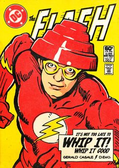 Quirky, maybe even cheeky, but nonetheless amusing! I'd get them all in print form for my living room. or at the very least the Devo/Flash!