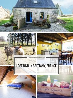 We're in love with this ancient, beautiful loft cottage in Brittany, France!