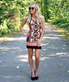 2ce1a6a6868 Stylish Bohemian Print Summer Mini Dress Trendy Clothes For Women