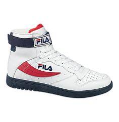"""Der kultige Schuh """"FX100"""" ist als Basketballschuh der Marke FILA bekannt. #fila #bouncemid #red #urban #retro"""