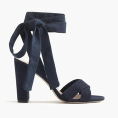 J.Crew - Suede sandals with ankle wraps