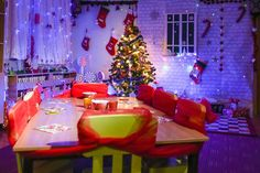 Christmas in kindergarten. Kids Love Christmas. All the decorations are crafted by the parents as a part of a kindergarten contest. We really spent a lot of time creating them for our little ones. ...
