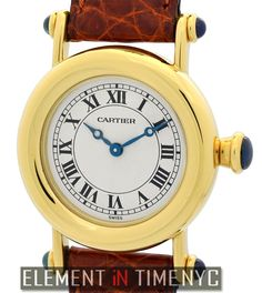 Cartier Diablo 27mm iN 18k Yellow Gold With A Silver Roman Dial (1440)