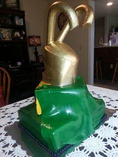 sideview of Loki cake