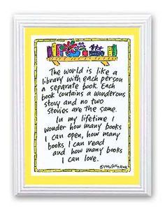 세상은, 모든 사람들을 각각의 책으로 담고 있는 도서관과도 같다.  각각의 책들은 모두가 놀라운 이야기들을 담고 있다.  그 어느 책들도 똑같은 이야기를 담고 있는 것은 없다.    나의 인생에서   내가 얼마나 많은 책들을 열어볼 수 있으며,  얼마나 많은 책들을 읽어볼 수 있으며,  얼마나 많은 책들을 사랑할 수 있을까.