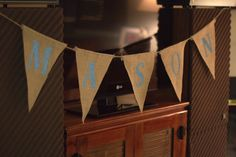 How to make a custom burlap banner of your own. #DIY. The girls names for over the crib and bed