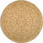 Chelsea Ivory/Gold 5 ft. 6 in. x 5 ft. 6 in. Round Area Rug