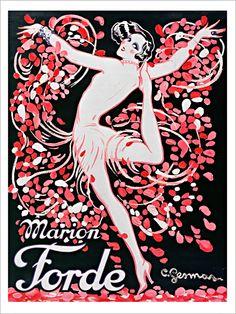 Marion Forde - Affiche d'Art de la collection vintage de Slap! Boutique : Le Grenier.
