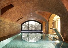 Hotel Barcelona - I want to spend a chilly winter afternoon swimming in this cozy indoor pool. Barcelona Hotels, Barcelona Spain, Hotel Pool, Hotel Spa, Piscina Interior, Indoor Swimming Pools, Lap Swimming, Dream Pools, Beautiful Pools