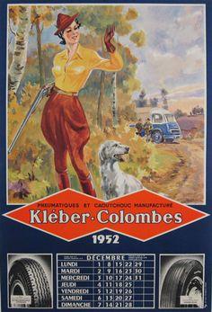 Kleber-Colombes Original Vintage Poster by G. Ham from 1952