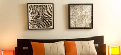 How adorable is this? His n' Hers fingerprints above the bed... @http://www.dna11.com/gallery_landing_finger_prints.asp