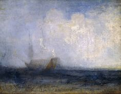 Turner - Seascape with a Sailing Boat and a Ship - c.1825–30