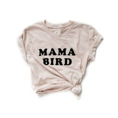 """Wear it proud mama! The Bee and The Fox Mama Bird tee (original fit) is professionally screen printed on 100% Fine Jersey cotton (cream). Durable rib neckband. Form-fitting. Don't forget to pair it with our oh so cute Baby Bird Tee for the little one! NOTE: RUNS EXTREMELY SMALL!! Available in American Apparel Women's sizes S, M, L, XL, XXL. PLEASE SIZE UP FOR A SLIM/FITTED FIT AND SIZE UP BY TWO FOR A REGULAR FIT! S (chest 30-32"""", waist 25-26"""") M (chest 32"""", waist 27-28"""") L (chest 34"""", waist…"""