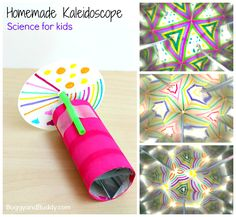 Learnhow to make a kaleidoscopein this fun STEM/science activity for kids. It's such a fun way to explore light, reflections, and symmetry!