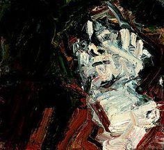 Frank Auerbach Head of J., Oil on canvas, 61 x 66 cm, Museo Thyssen-Bornemisza, Madrid Frank Auerbach, Portraits, Portrait Art, Abstract Portrait, Life Drawing, Painting & Drawing, Drawing School, Painting Prints, Prince Drawing