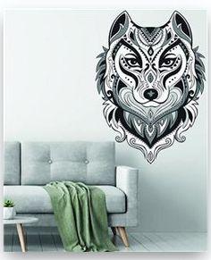 Geometric Low poly Fox Design Wall Sticker Art Bedroom Vinyl Decal 072