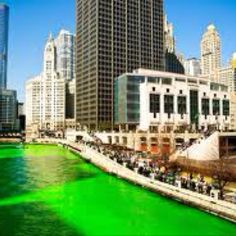 Chicago Green river for St. Patrick's day:) so cool.
