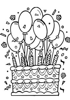 Fun Birthday Cake Coloring Pages See the category to find more printable coloring sheets. Also, you could use the search box to find what you want. Princess Coloring Pages, Cute Coloring Pages, Coloring Pages To Print, Free Printable Coloring Pages, Adult Coloring Pages, Boy Coloring, Coloring Sheets For Kids, Coloring Books, Free Coloring