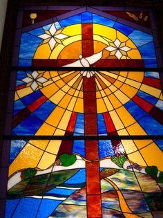 Custom Made Peace Stained Glass Window