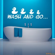 "Wandtattoo ""Wash and go"" - 12,95 €"