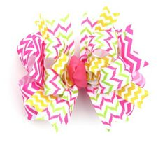 Matching chevron Sister bow www.beckysbowboutique.com Little Diva, Boutique Hair Bows, Chevron, Hairbows