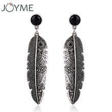 New Design Bohemian Vintage Feather Earring Dangle Drop Earring For Women Leaves Hanging Earrings Pendientes Brincos Grandes(China (Mainland))