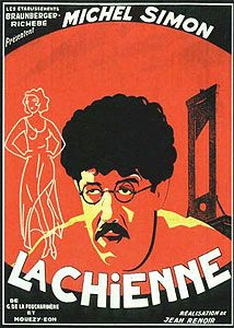 La Chienne is a 1931 Drama, Black-and-white film directed by Jean Renoir and starring Michel Simon, Janie Marèse. Jean Renoir, Martin Scorsese, Classic Movie Posters, Film Posters, Stanley Kubrick, Alfred Hitchcock, Film France, Loveless Marriage, Sound Film
