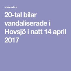 20-tal bilar vandaliserade i Hovsjö i natt 14 april 2017
