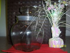 Vintage Kitchen Canister Decanter Glass by NAESBARGINBASEMENT, $8.00