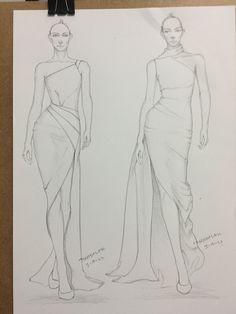 Dress Design Drawing, Dress Design Sketches, Fashion Design Sketchbook, Fashion Design Drawings, Fashion Drawing Tutorial, Fashion Figure Drawing, Fashion Model Sketch, Fashion Sketches, Fashion Illustration Poses