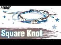 [305DIY]3총사 미니펜던트 평매듭팔찌만들기,3set mini pendant square knot friendship bracelets DIY tutorial - YouTube