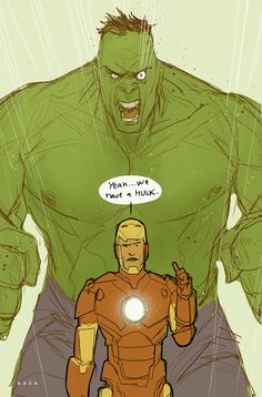 A drawing by comic artist Phil Noto, featuring one of my new favorite Robert Downey Jr./Iron Man quotes. LOVE!!!