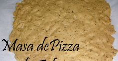 Esta es mi masa de pizza de tofu!!! Ya os puse la pizza hecha con la avena y tenia esta pendiente... La verdad, es que las dos están ...