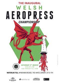 World AeroPress Championship Coffee Shops, Rad Coffee, Coffee Desk, Aeropress Coffee, The Incredibles, Posters, Barista, Welsh, Champs