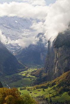 Switzerland - Rock Falls by jaetography, via Flickr