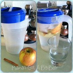 Apple-Cinnamon Water - Boost your metabolism naturally with this zero calorie drink! Try this out for a week instead of diet sodas. You will drop weight and have lots of energy! Healthy Habits, Healthy Tips, Healthy Choices, Healthy Recipes, Drink Recipes, Yummy Drinks, Healthy Drinks, Healthy Snacks, Yummy Food