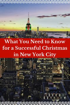 What you Need to Know for a Successful Christmas in New York City written by a local! | Travel New York City